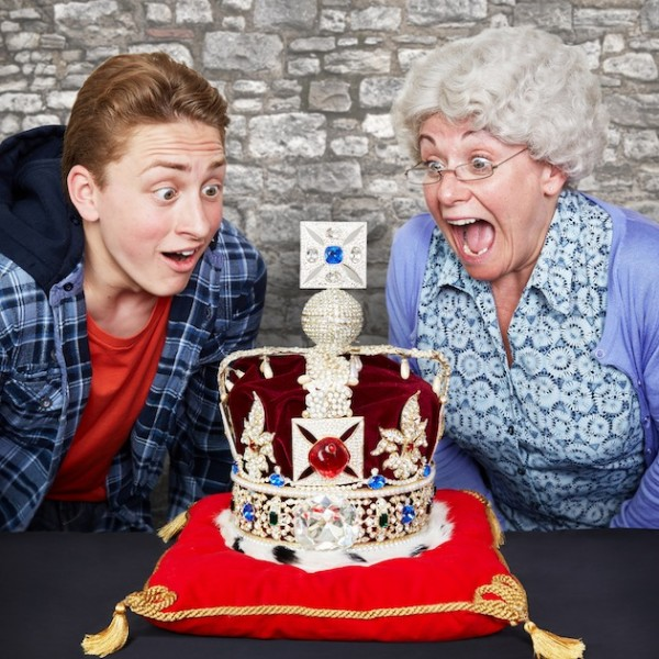 ben and gangsta granny looking at crown jewels